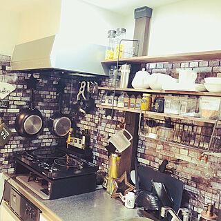 女性一人暮らし1K、Kitchen DIYに関するmさんの実例写真