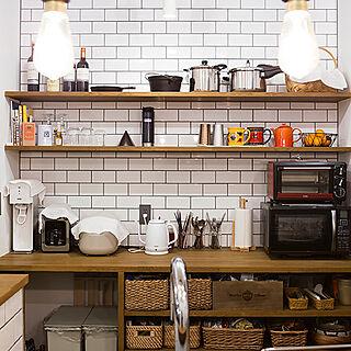 男性42歳の同棲、オープンキッチンに関するstakeさんの実例写真
