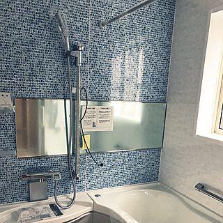 女性43歳の家族暮らし、スピーカー付き浴室に関するBecchiさんの実例写真