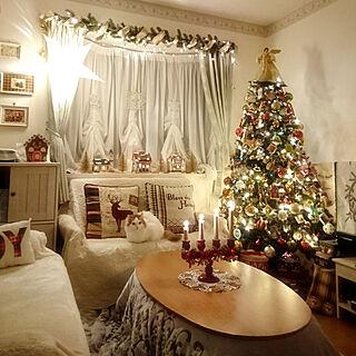 部屋全体/クリスマス/ものがたりに憧れる/カントリー/クリスマスディスプレイ...などのインテリア実例 - 2018-12-24 07:49:54