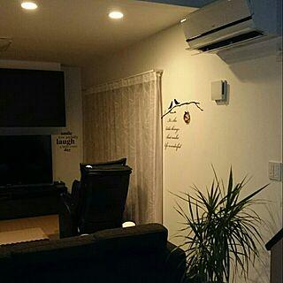 部屋全体/60型テレビ。/いずれ寝室にお引っ越しする子。/ダウンライト。/観葉植物。...などのインテリア実例 - 2014-08-21 20:58:52