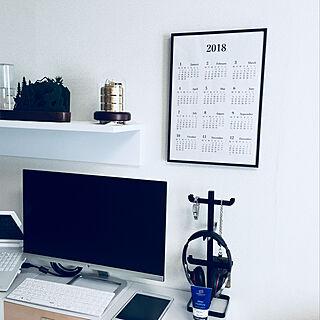 一人暮らし1K、カレンダー自作に関するlie_siaolongさんの実例写真