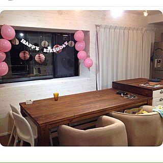 リビング/IKEA/ペーパーデコ/ハニカムボール/誕生日仕様...などのインテリア実例 - 2015-10-15 22:02:39