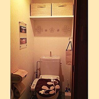 女性33歳の1K、トイレットペーパーの芯リメイクに関するyuikoroさんの実例写真