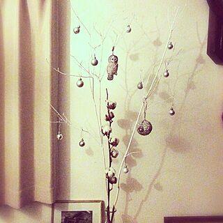 リビング/コットンフラワー/ふくろう/クリスマス/フランフラン...などのインテリア実例 - 2013-12-13 22:31:28