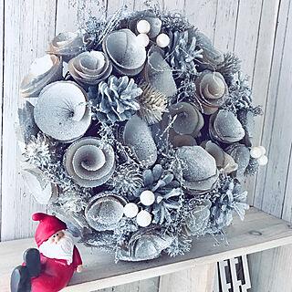 玄関/入り口/Xmas/クリスマス/クリスマスリース/クリスマスディスプレイ...などのインテリア実例 - 2018-12-08 21:12:35
