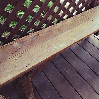 リビング/古道具/第二のリビング/ウッドデッキ/古いベンチのインテリア実例 - 2014-06-15 09:05:09