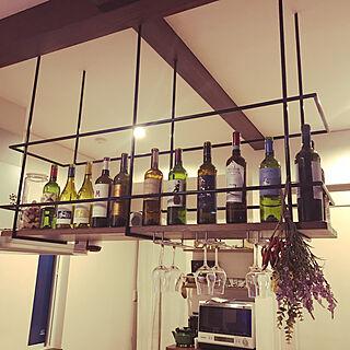 吊り棚/ワイン棚のある家/大掃除/キッチン収納/整理整頓...などのインテリア実例 - 2020-12-30 00:16:26