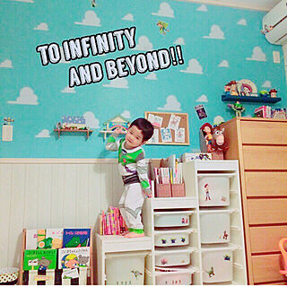 アンディの部屋/ディズニー/キッズルーム/トイストーリー/初投稿...などのインテリア実例 - 2017-12-19 16:04:12