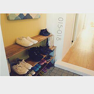女性36歳の家族暮らし3LDK、ペイントしたドアに関するmimyさんの実例写真