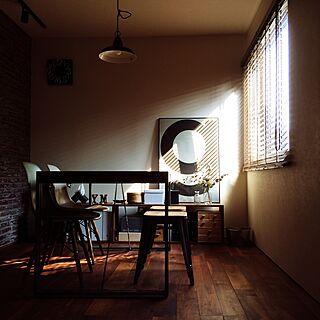 壁/天井/木製ブラインド/ドライフラワーのある暮らし/ダイニングルーム/grey...などのインテリア実例 - 2017-06-19 20:53:49