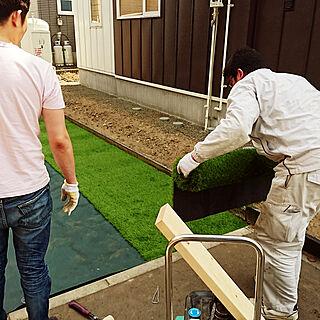 玄関/入り口/DIY/garden/庭作り/防草シート...などのインテリア実例 - 2018-04-29 23:31:10