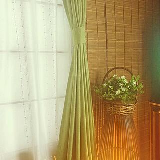 陽の光/簾/籠/間接照明/障子にカーテン...などのインテリア実例 - 2021-02-11 00:14:54