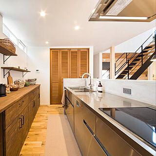 キッチン/アイランドキッチン/ウッドワン/モルタル腰壁/グースネック水栓...などのインテリア実例 - 2018-12-21 22:30:22