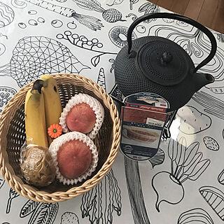机/南部鉄瓶/便利なキッチングッツ/洗えるバスケット バイカラー/電子レンジで使える籠...などのインテリア実例 - 2018-07-07 09:15:19