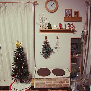 壁/天井/クリスマス/ママイクコ/ダイソー/カフェ風...などのインテリア実例 - 2019-12-06 17:07:47