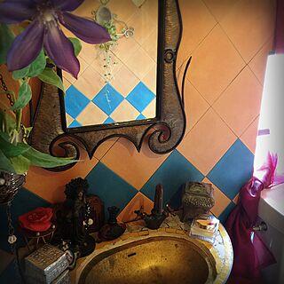 バス/トイレ/宗教モノ/モロッコ/アイアン/オリエンタル...などのインテリア実例 - 2016-05-26 22:02:22