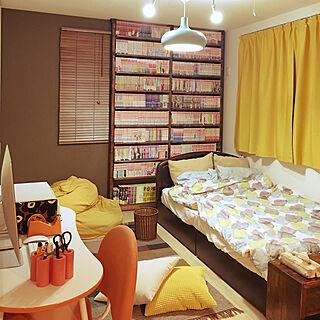 女性家族暮らし1LDK、アンティーク本棚に関するdondon_marumiさんの実例写真