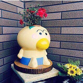 玄関/入り口/植木鉢/はなかっぱ/母の日/roomclipのインテリア実例 - 2017-05-03 08:14:42