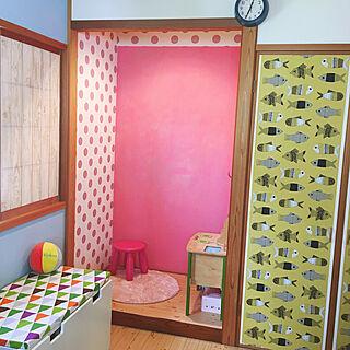 女性家族暮らし4LDK、黒板塗装に関するladybug.さんの実例写真