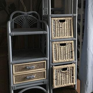 女性48歳の家族暮らし4LDK、籐家具に関するMamuさんの実例写真