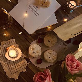 おうちカフェ/おやつ時間/おやつタイム/チューリップ/癒しセット...などのインテリア実例 - 2021-02-23 14:31:05