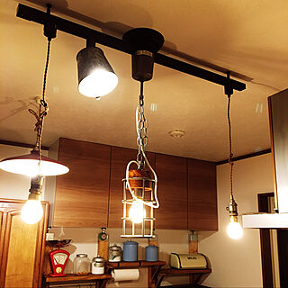 キッチン/バケツ缶/バケツリメイク/照明リメイク/照明DIY...などのインテリア実例 - 2018-06-10 21:31:32