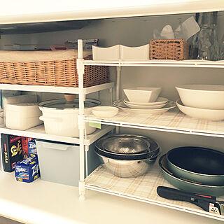 キッチン/せまいキッチン/フライパン収納/収納/シンク下収納...などのインテリア実例 - 2018-12-07 09:24:08