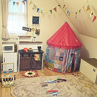 女性38歳の家族暮らし3DK、おもちゃの冷蔵庫に関するslow-lifeさんの実例写真