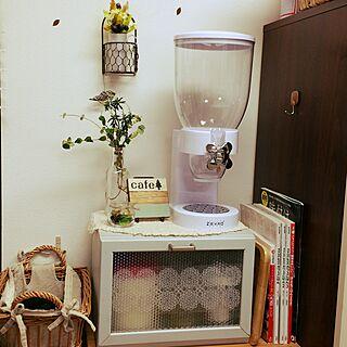 棚/グリーン/cafe風に憧れる/木製コースター/離乳食の空き瓶...などのインテリア実例 - 2016-11-24 16:53:33
