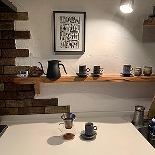 コーヒー豆/絵/green/セルフビルド/ART...などのインテリア実例 - 2019-12-10 07:37:53