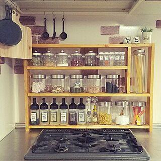 キッチン/DIY/スパイスラック/収納アイデア/セリア...などのインテリア実例 - 2017-01-05 16:00:24
