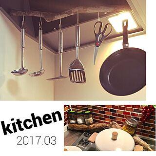 キッチン/一人暮らし/ニトリ/Ball/ダイソー...などのインテリア実例 - 2017-03-30 00:03:56