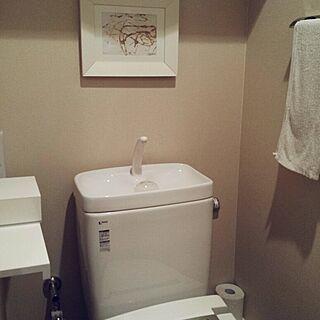 バス/トイレ/IKEA/夏休みきたー(*´ω`*)/まっしろトイレのインテリア実例 - 2014-07-23 07:05:32