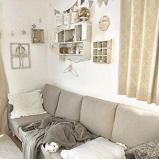 女性29歳の家族暮らし4LDK、壁も白♡に関するkaoさんの実例写真