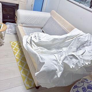 リビング/カバー交換/IKEAのソファー/ゆったりと過ごす/5月...などのインテリア実例 - 2018-05-16 21:25:46