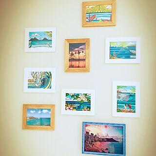 女性31歳の家族暮らし3LDK、ヤシの木 表札 ハワイ 南国に関するkasuminさんの実例写真