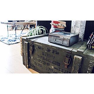 玄関/入り口/キリム柄/キセログラフィカ/軍モノ/アーモボックス...などのインテリア実例 - 2017-11-10 21:50:55
