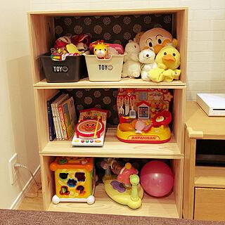 女性39歳の家族暮らし、赤ちゃんのおもちゃに関するcharaさんの実例写真