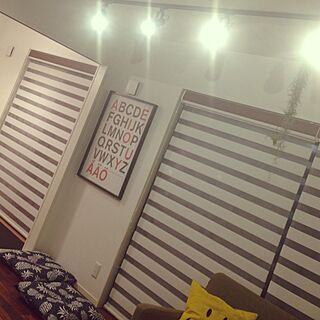 壁/天井/IKEA/スポットライト/座布団/ロールスクリーン...などのインテリア実例 - 2014-07-12 22:27:36
