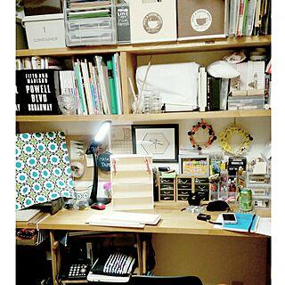 女性家族暮らし、化粧台兼パソコンデスクに関するannさんの実例写真