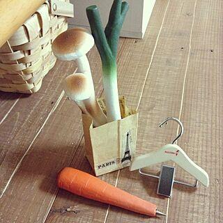 女性37歳の家族暮らし3LDK、お野菜ボールペンに関するmayuringoさんの実例写真