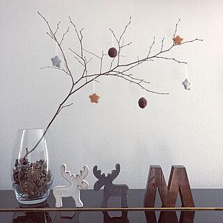 女性家族暮らし4LDK、木がない( ꈨຶ ˙̫̮ ꈨຶ )に関するeri.さんの実例写真