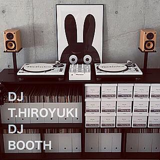 パイオニア/テクニクス/DJもやってる/DJミキサー/DJブースのある部屋...などのインテリア実例 - 2021-02-06 13:27:10