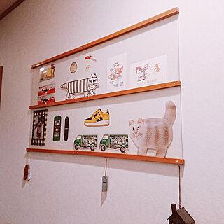 壁/天井/わたしのDIY&リメイクアイデア/DIY/トムとジェリー/廊下のインテリア実例 - 2020-08-21 18:54:26