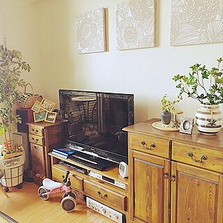 女性33歳の家族暮らし2LDK、子供雑貨に関するKanaeさんの実例写真