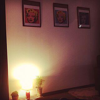 部屋全体/マリリンモンロー/1人暮し/観葉植物/雑貨...などのインテリア実例 - 2016-06-18 23:15:10