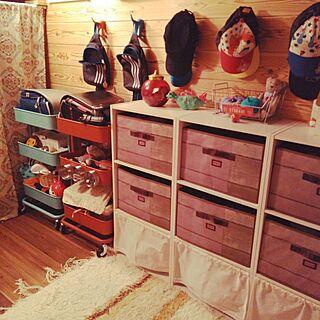 女性43歳の家族暮らし3LDK、チョイ棚に関するakisunさんの実例写真