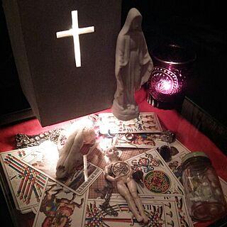 机/ホラー/十字架/コレクションテーブル/ゴシック...などのインテリア実例 - 2015-07-13 23:14:22