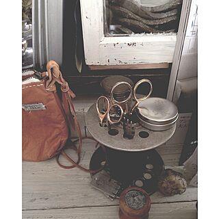 机/前のpicですが/落としてしまった革ポシェット/道具/古道具...などのインテリア実例 - 2015-06-22 06:38:52